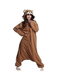 WOTOGOLD Animal Cosplay Costume Brown Bear Unisex Adult Pajamas