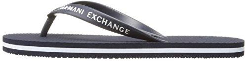 A|X Armani Exchange Men's Armani Exchange Solid Flip Flop, Navy/White, 8 M US Photo #4
