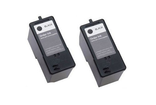 2-Pack (BLACK ONLY) Series 7 Remanufactured Hi-Yield Ink for CH883 Dell All-in-One 966 / 968 / 968w