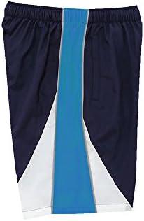 スイムウェア ユニセックス トレーニングクロス ハーフパンツ N2JD902182 サイズ:S N2JD9021 82:ドレスネイビー×サックス
