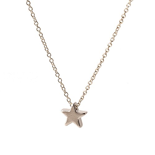gold-silver-optional-pentagram-girl-short-chain-short-star-necklaces-pendants-jewelry-wholesale-for-