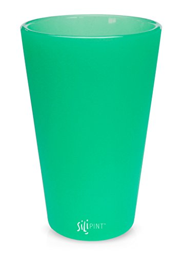SILIPINT Silicone Pint Glasses, The Unbreakable Silicone Pint Glass, Patented Glass for Beer and Wine and More, Drinkware That is Heat Safe and Freezer Safe, 16-Ounce - Translucent Turquoise (16 Oz Translucent Tumbler)