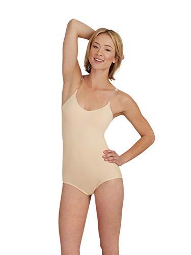 Capezio Camisole Leotard w/ BraTek - Size Medium, Nude