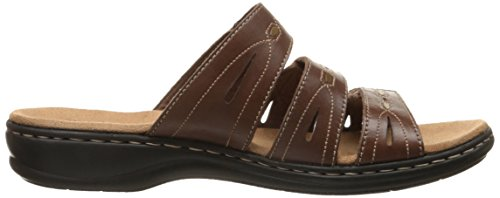 Clarks Leisa brocha vestido de la sandalia Brown/Multi