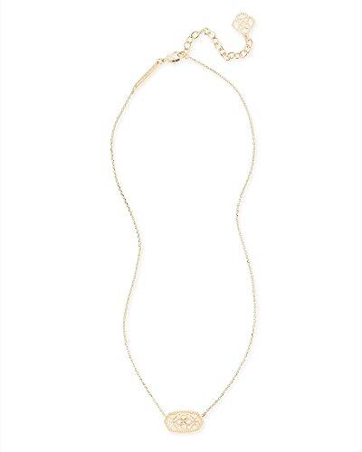 Kendra Scott Signature Elisa Pendant Necklace (Gold/Gold Filigree)