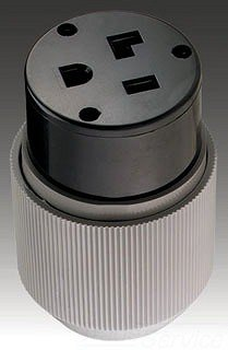 Eaton 6709N 50 Amp 250V 6-50 Power Connector, Gray & Black