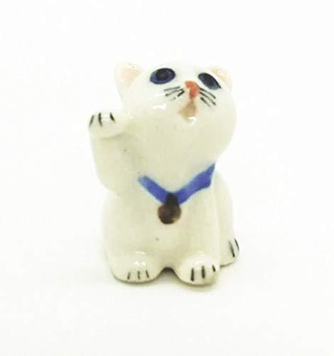 - WitnyStore Siamese Cat Ceramic Cute Pet Miniature Figurine Handmade Collectible Decor