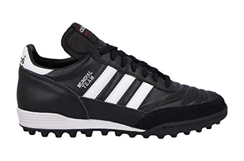 adidas Mundial Team Mens Soccer Shoe 5 Black-White (Mundial Team Leather Tf Cleats)
