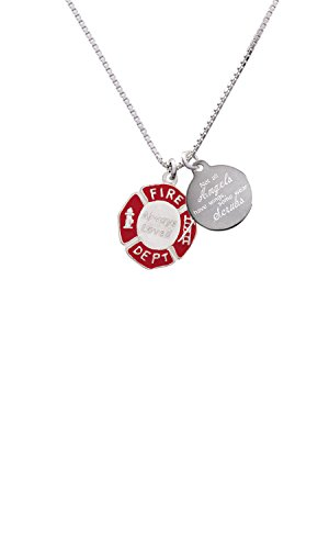 partment Shield Angels Wear Scrubs Engraved Necklace ()