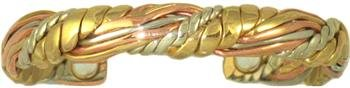 Honeysuckle - Sergio Lub Copper Magnetic Therapy Bracelet - Made in USA! (lub782)  Size  Large - 7 to 8 - Sergio Cuff Lub