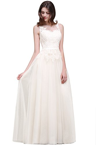 Women Formal Evening Gowns Long Dress for Special Occasoin Ivory Size 16