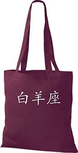 Shirtinstyle - Bolso de tela de algodón para mujer - granate