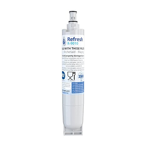 Refresh Replacement Refrigerator Water Filter Compatible with Kenmore 46-9010, 469010, 9010, 46-9085, 9085, AQUACREST AQF-4396508, Aquafresh WF285 and IcePure RFC0500A (1 Pack) (Water Filter Refrigerator 9010)