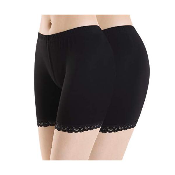Leggings Dentelle Femme Short sous Jupe Pantalon de Sport élastique Doux légers