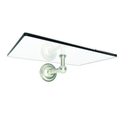 - OKSLO 2636-sn london terrace 9'' tempered glass wall tray - 2636,satin nickel - - 7367