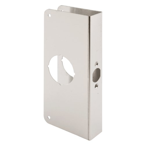- Defender Security Door Reinforcer Non-Recessed 1-3/8-Inch Thick by 2-3/8-Inch Backset 2-1/8-Inch Bore, Stainless Steel
