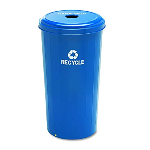(Safco Products 9632BU Tall Round Recycling Trash Can, 20-Gallon, Blue)