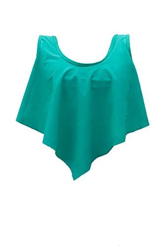 fitglam Flounce Bikini Top Turquoise (Turquoise Size Swimsuits Plus)