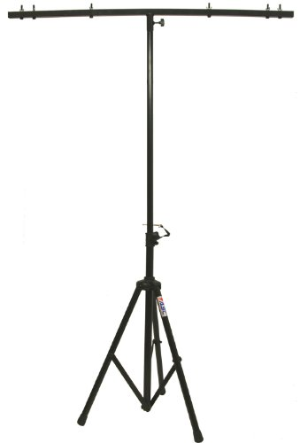 ASC Pro Audio Mobile DJ Light Stand 6 Foot Height Lighting Multi Fixture T Bar Portable Tripod