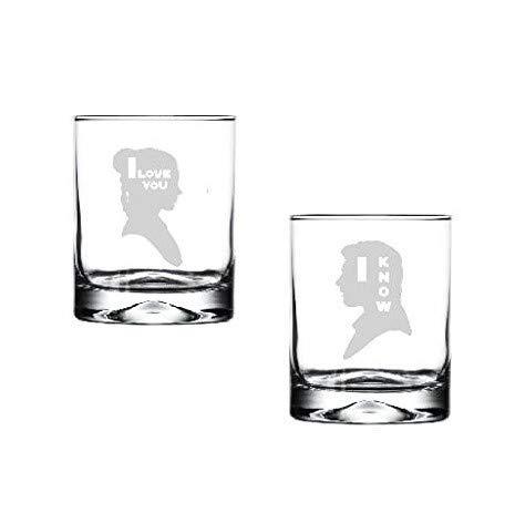 Amazon.com: Juego de dos cristales de cristal para bebida ...