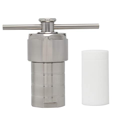 (BAOSHISHAN 50ml Hydrothermal Synthesis Autoclave Reactor in 200℃ 3Mpa with PTFE Liner Teflon Vessel Acid and Alkali Resistance 25/50/100/150/200/250/300/500ml (50ml)(50ml))