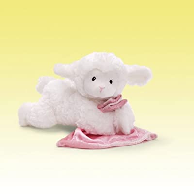 "GUND Lena Lamb with Pink Blanket Stuffed Animal Sound Plush, 6"": Toy: Toys & Games"
