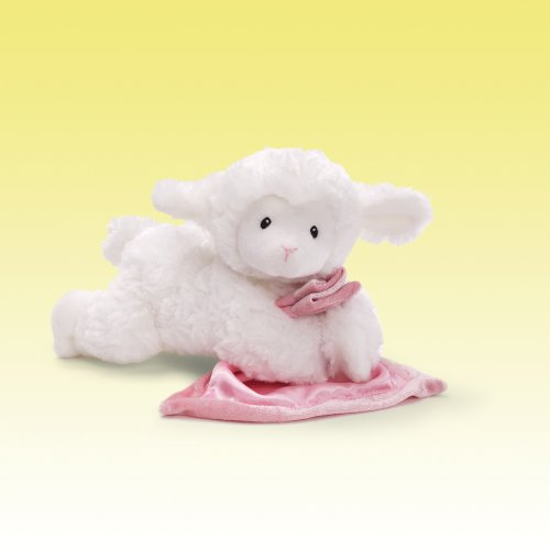 (GUND Lena Lamb with Pink Blanket Stuffed Animal Sound Plush, 6