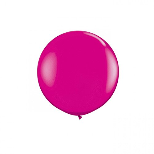 Koyal Wholesale Round Latex Giant Balloon (Pack of 2), 3', Wild Berry