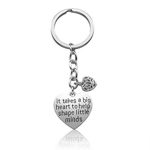 Teacher Appreciation Gift for Women, Teach Love Inspire Heart Teacher Keychain, Jewelry Gift for Teachers, Birthday Gift for Teacher Valentines Gifts