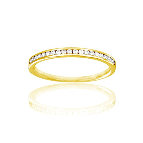 Tousmesbijoux Alliance Culte en Or jaune 375/00 Diamant 0,17 carat