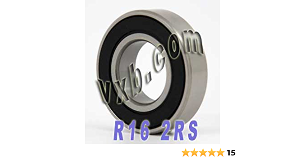 "Qty. 10 1/"" x2/"" x1//2/"" R16-2RS C3 Sealed Premium Ball Bearing"