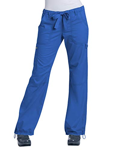 2015 Ladies Uniform - KOI Women's Lindsey Ultra Comfortable Cargo Style Scrub Pants (Petite Sizes), Royal, X-Large
