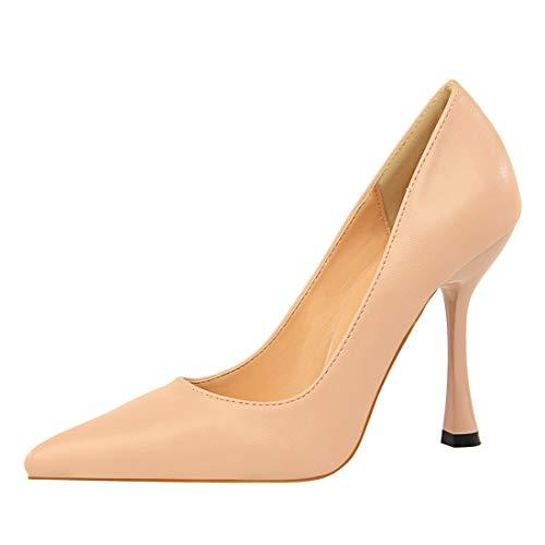 Tacco Evening Party Sexy Slim Dress Mgm joymod Business a Punta Club Semplice Scarpe Shoes A Pink Svasato Col txfqA7xw4