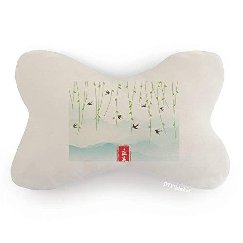 DIYthinker Spring Begins Twenty Four Solar Term Car Neck Pillow Headrest Support Cushion Pad by DIYthinker