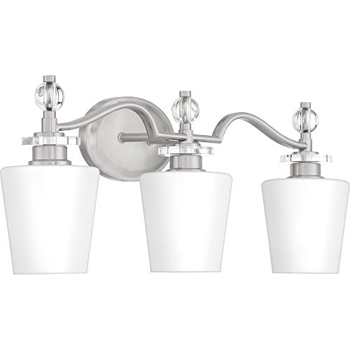 Quoizel HS8603C Hollister Vanity Bath Lighting, 3-Light, 300 Watts, Polished Chrome (10'' H x 23'' W) by Quoizel (Image #8)