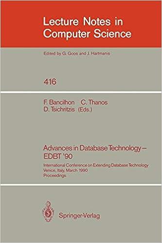 Buy Advances in Database Technology - EDBT '90