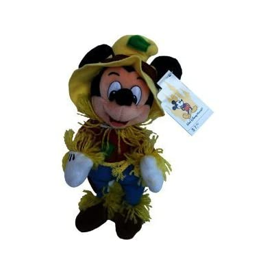 "Retired Disney Mickey Mouse Clubhouse Halloween Fall Classic Scary Farmer Scarecrow 9"" Plush Mickey Mouse Bean Bag Doll New with Tags: Toys & Games"