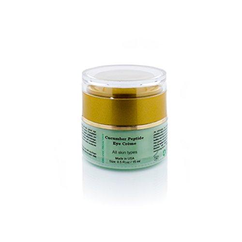 ORGANIC PROACTIVE,PROFESSIONAL GRADE, Cucumber Peptide Eye Creme (PLUMP + FIRM + SMOOTH,) All Skin Types 0.5 fl.oz