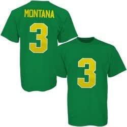 adidas Notre Dame Fighting Irish #3 Joe Montana Kelly Green Joe Cool T-shirt