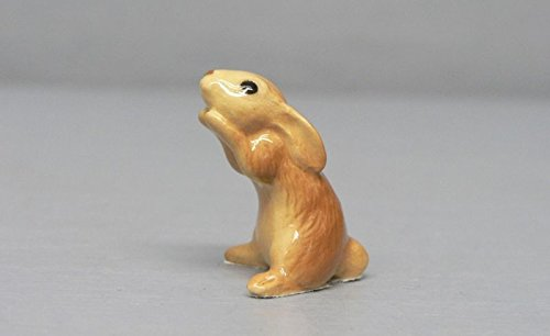 HONEY BUNNY Brown RABBIT Sits Up SUPER MINIATURE Figurine Ceramic HAGEN-RENAKER 3226B by Eyedeal Figurines (Mint Porcelain Figurine)