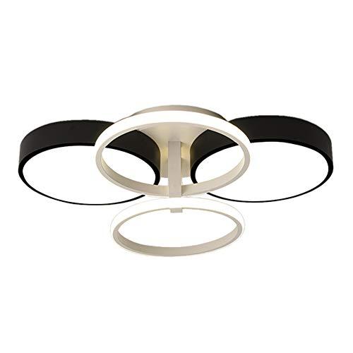 TopDeng Modern Circle Ring Ceiling Light, 60W LED Bedroom Living Room Dining Room Ceiling Lighting Fixture Flush mount-62x55x14cm Neutral Light