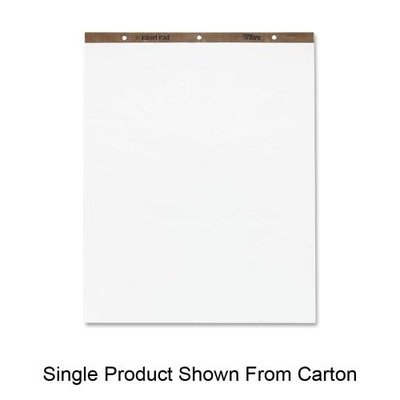 TOPS Easel Pad, 27.5 x 35 Inches, 3-Hole Punched, 50 Sheets, White, Carton of 4 Easel Pads (79011)