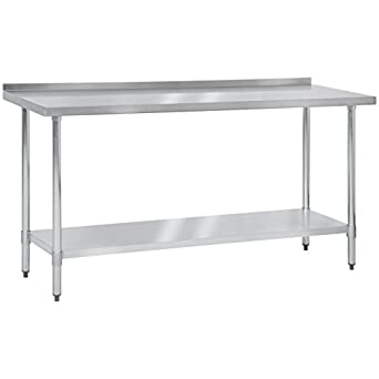 Amazoncom Best Choice Products X Stainless Steel Work Prep - Stainless steel table with lip
