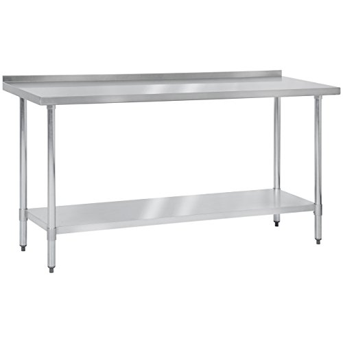 Best Choice Products 72'' x 24'' Stainless Steel Work Prep Table W/ Backsplash For Commercial Restaurant Kitchen Use by Best Choice Products