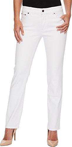 Lauren Ralph Lauren Women's Premier Straight Jeans White 12 (Ralph Lauren Leather Jeans)