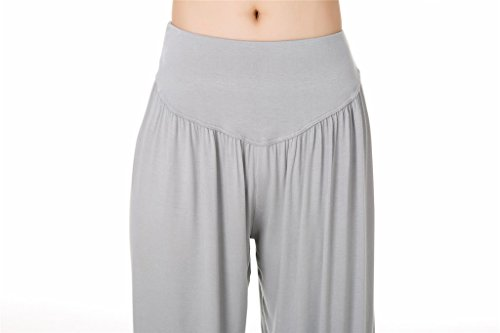 SIMYJOY per Spandex Light Pilates Loose morbido donna Fit Pantaloni Lunghi da e o Modal Grey Leggings Yoga rPnTxqr4w