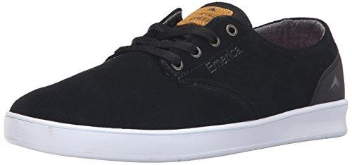 Emerica LACED BY LEO ROMERO - zapatillas de cuero hombre Black/Black/White