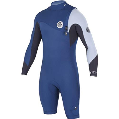 (Rip Curl E Bomb Zip Free Entry 2/Short Sleeve Spring Wetsuit, Navy/Nav, Medium)