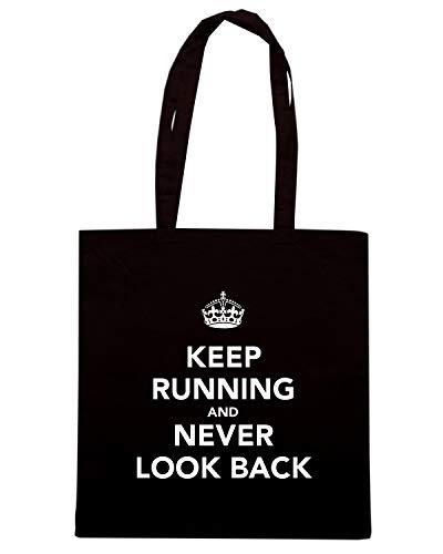 Nera TKC0071 Shopper BACK Speed NEVER CALM LOOK KEEP Shirt Borsa AND PqxZt