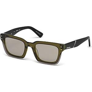 Sunglasses Diesel DL 0231 95Q Light Green/other / Green Mirror